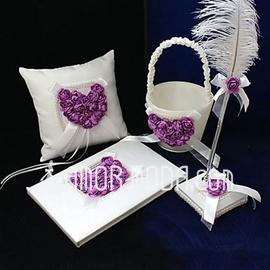 Lilac Rosa Cuore Progettato Insieme di raccolta in Raso (100017969)