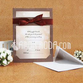 Stile classico Biglietto piatto Invitation Cards con Nastri (Set di 50) (114030777)