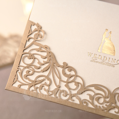 Bride & Groom Style Wrap & Pocket Invitation Cards (Satz Von 50) (114024220)