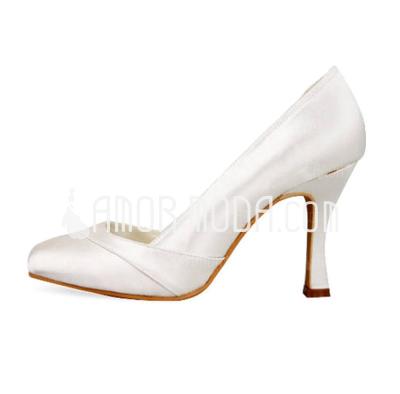 Vrouwen Satijn Stiletto Heel Closed Toe Pumps (047010805)