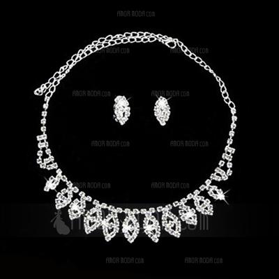 Elegant Alloy/Crystal Ladies' Jewelry Sets (011027199)