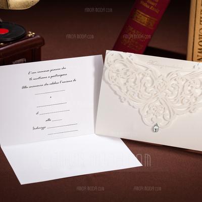 Stile Floreale Wrap & Pocket Invitation Cards (Set di 50) (114041810)
