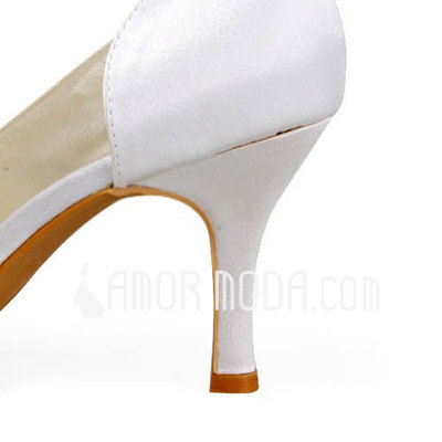 Vrouwen Satijn Stiletto Heel Peep Toe Sandalen met Kralen (047011891)