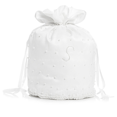 Elegant Satin With Imitation Pearl Bridal Purse (012003976)