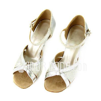 Imitatieleer Sprankelende Glitter Hakken Sandalen Latijn Huwelijk bruids Partij Dansschoenen (053013314)