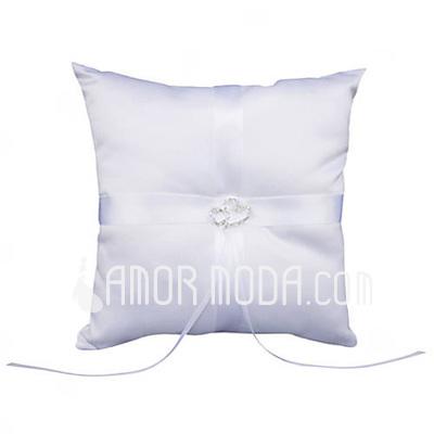 Anello cuscino in Raso con Strass (103018267)