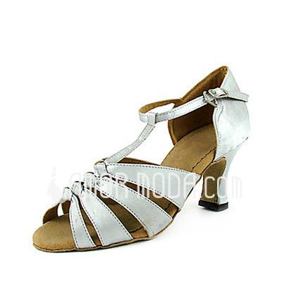 Vrouwen Satijn Hakken sandalen Latijn met T-Riempjes Dansschoenen (053013591)