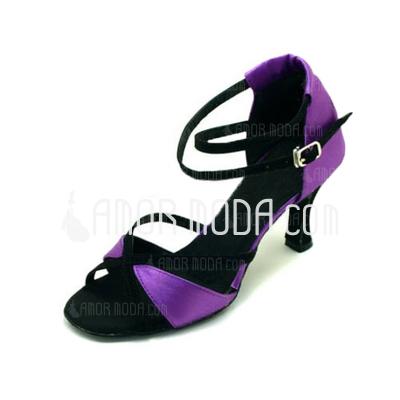 Vrouwen Satijn Hakken Sandalen Latijn Ballroom Dansschoenen (053009735)
