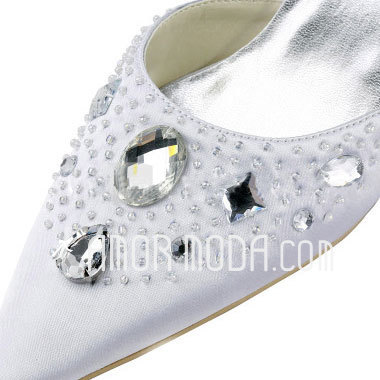 Vrouwen Satijn Stiletto Heel Pumps met Strass (047011863)