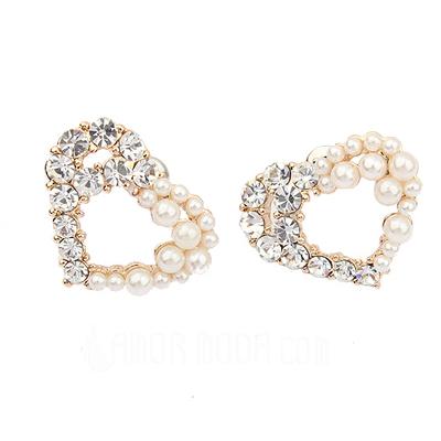 Prächtig Legierung mit Perle Strass Frauen Ohrringe (011035099)