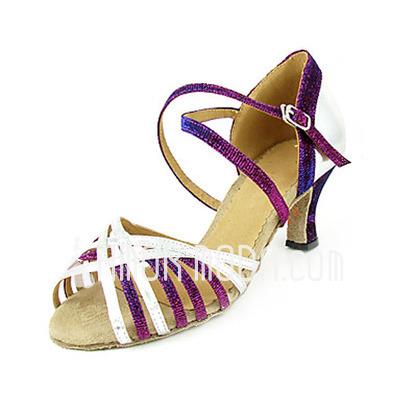 Frauen Kunstleder Heels Sandalen Latin mit Knöchelriemen Tanzschuhe (053013368)