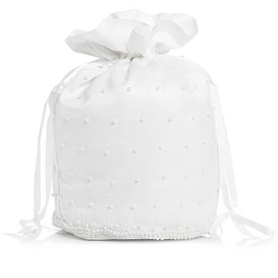 Eleganta Satäng med Imitation Pärla Brudväska (012003976)