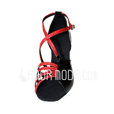 Vrouwen Patent Leather Hakken Sandalen Latijn Dansschoenen (053013589)
