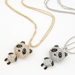 Schön Legierung Strasssteine Damen Mode-Halskette (137044909)