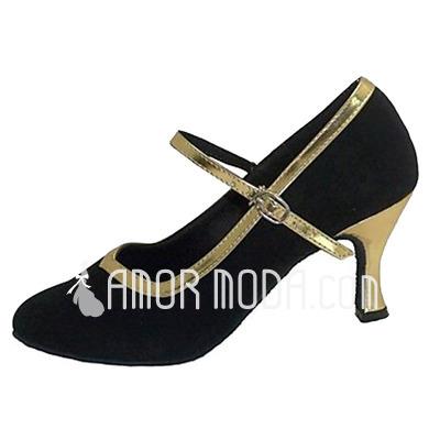 Femmes Similicuir Nubuck Talons Escarpins Moderne Salle de bal avec Boucle Chaussures de danse (053013214)