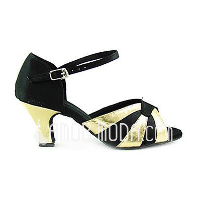 Vrouwen Satijn Patent Leather Hakken sandalen Latijn Dansschoenen (053013533)