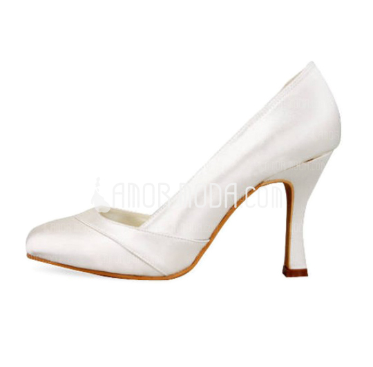 Vrouwen Satijn Stiletto Heel Closed Toe Pumps (047010805)