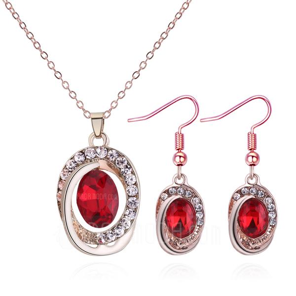 Skinner Legering Rhinestones Glass med Rhinestone Kvinner Smykker Sett (Sett med 2) (137190455)
