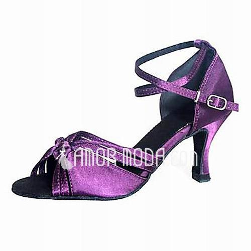 Vrouwen Satijn Hakken Sandalen Latijn Ballroom Dansschoenen (053012957)
