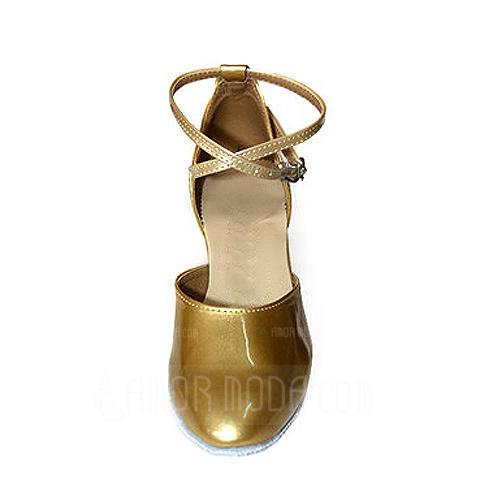 Vrouwen Patent Leather Hakken Pumps Ballroom met Enkelriempje Dansschoenen (053013045)