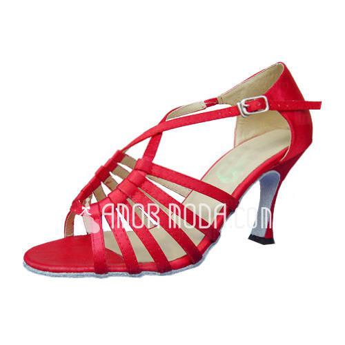 Vrouwen Satijn Hakken Sandalen Latijn Dansschoenen (053012989)