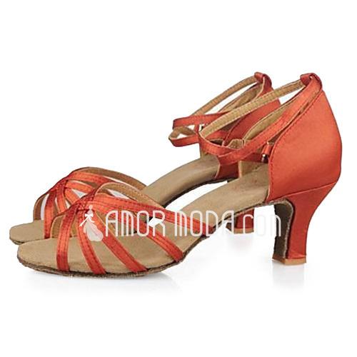 Vrouwen Satijn Sandalen Latijn Ballroom Dansschoenen (053013191)