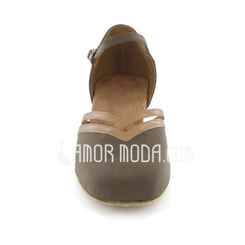 Frauen Nubuk Flache Schuhe Moderne mit Knöchelriemen Tanzschuhe (053021443)