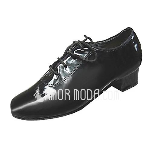 Kinder Lackleder Heels Latin Ballsaal Training Charakter Schuhe Tanzschuhe (053013186)