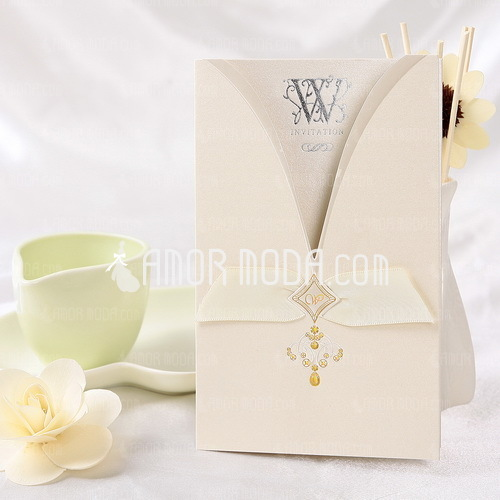 Stile classico Wrap & Pocket Invitation Cards (Set di 50) (114032372)