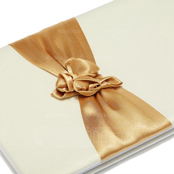 Flores de diseño Fajas/Pétalos/Flor Libro de visitas & sistema de la pluma (101018145)