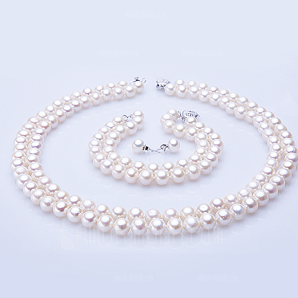 Regali Damigella D'onore - Bella Elegante Di Faux Perla Set di gioielli (256170275)