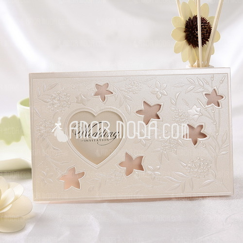 Stile Cuore Tri-Fold Invitation Cards (Set di 50) (114032371)
