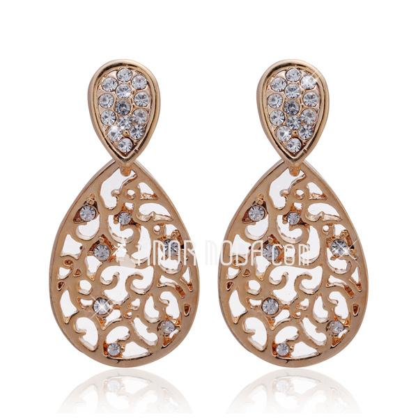 Prächtig Legierung mit Kristall Damen Ohrringe (011027331)