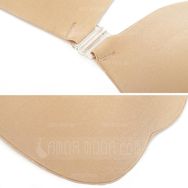 Pretty Silicone Cotton Front Closure Feminine Bra (041052111)