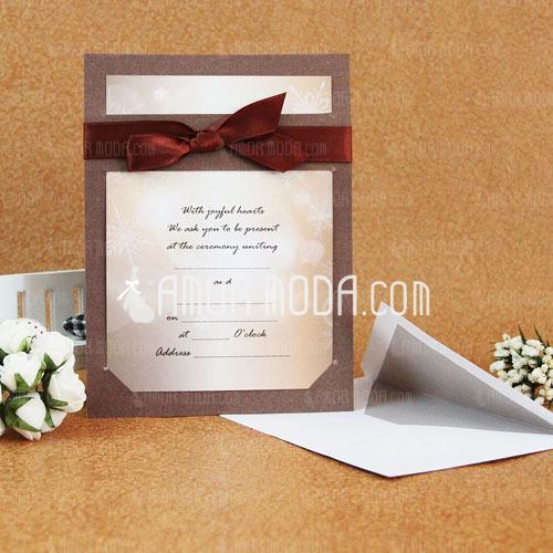 Estilo clásico Tarjeta plana Invitation Cards con Cintas (Juego de 50) (114030777)