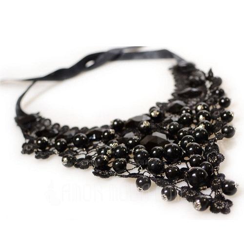 Punk Alloy Lace Women's Fashion Necklace (137053886)