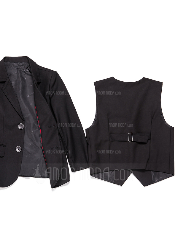 Boys 3 Pieces Solid Ring Bearer Suits /Page Boy Suits With Jacket Vest Pants (287199776)