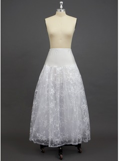 Women Tulle Netting/Spandex/Lace Floor-length 3 Tiers Petticoats (037033986)