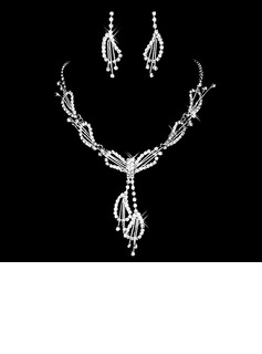 Gorgeous Alloy/Rhinestones Ladies' Jewelry Sets (011006980)