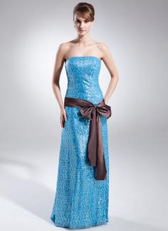 Forme Princesse Sans bretelle alayage/Pinceau train Pailleté Robe bal d'étudiant avec Ceintures À ruban(s) (018015858)