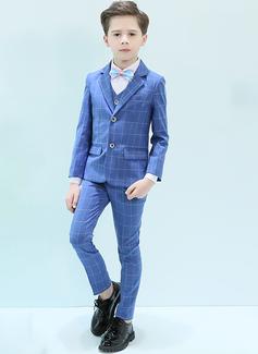 Boys 5 stycken Pläd Passar till ringbärare /Page Boy Suits med Jacka Skjorta Väst Byxor Fluga (287204963)