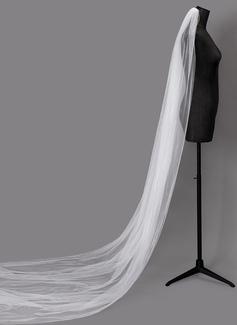Uno capa Corte de borde Velos de novia catedral (006203717)