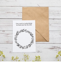Bridesmaid Gifts - Classic Elegant Paper Wedding Day Card (256176231)