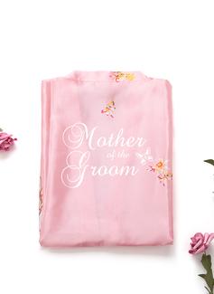 personnalisé charmeuse la mariée Demoiselle d'honneur Maman Demoiselle d'honneur junior Robes Florales Robes Brodées (248199939)