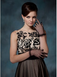 Voile Wrist Length Party/Fashion Gloves (014020526)