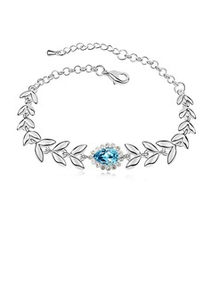 Gorgeous Alloy/Platinum Plated With Crystal Ladies' Bracelets (011053733)