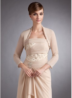 3/4-Length Sleeve Chiffon Special Occasion Wrap (013012350)