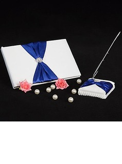Splendor Satin Bow Guestbook/Pen Set (101018153)
