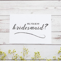 Bridesmaid Gifts - Classic Elegant Paper Wedding Day Card (256176223)