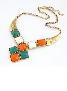 Exquisite Alloy With Imitation Stones Women's Fashion Necklace (011035191)